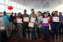 Students receive their score reports and certificates 5